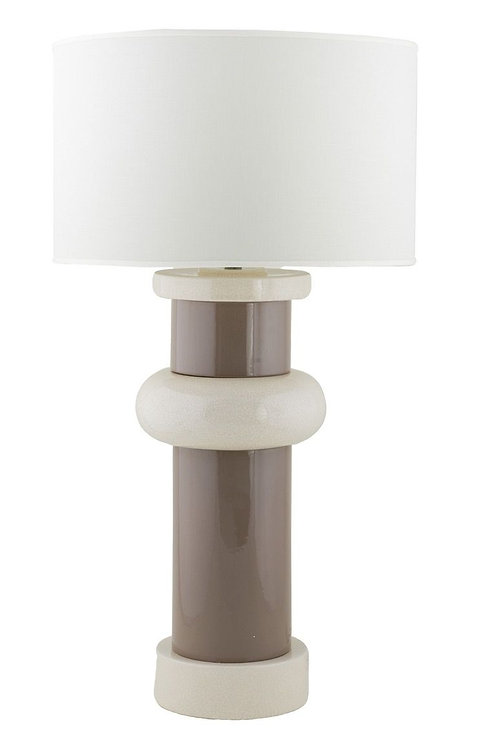 Colonne Oversized Table Lamp- taupe/ivory