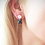 Thumbnail: Moonstone and Lapis Cabochon Earrings