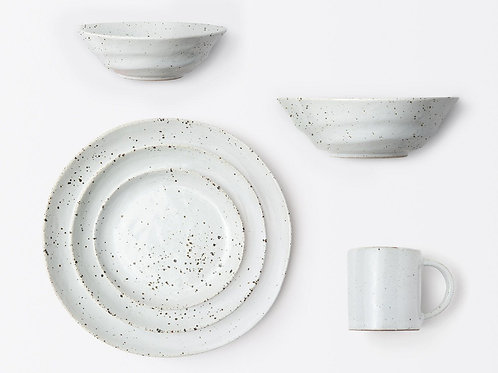 White Salt Glaze Cereal / Ice Cream Bowl