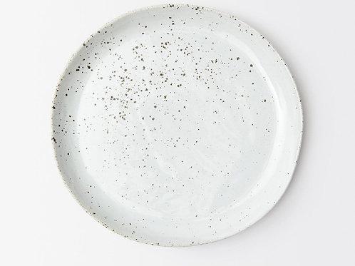 White Salt Glaze Dinner Plate