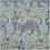 "Thumbnail: Clarence House 32"" x 13"" Chinoiserie Tibet Dragon Linen Lumbar Toile Pale Blue"