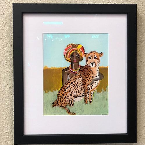 """""""Cheetah Lover"""" Framed Print from an Original"""