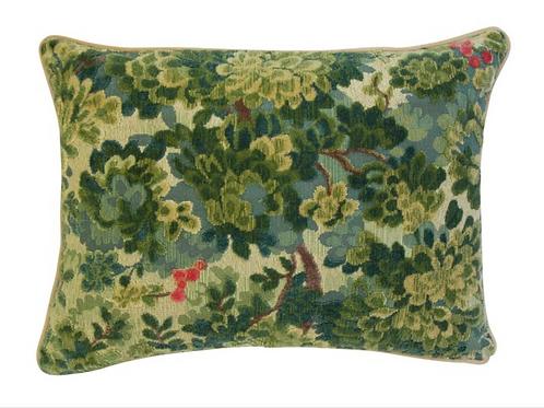 Custom Made Scalamandre Marly Uncut Velvet Pillow