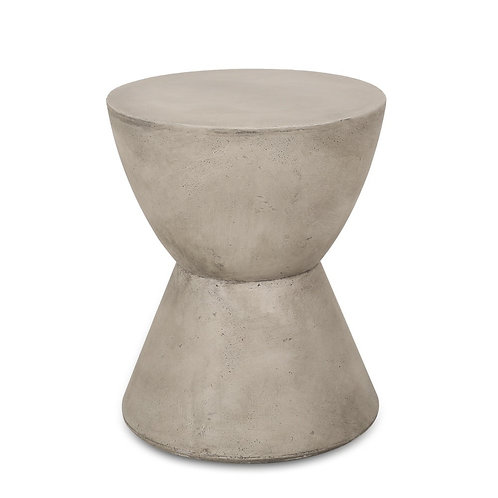 Concrete Hour-Glass Accent Table