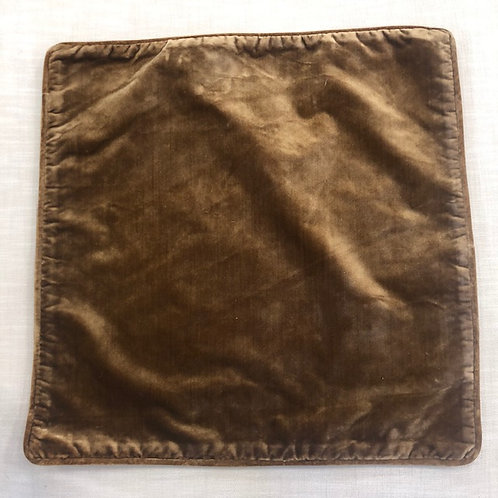 Brown Silk Velvet Pillow with Insert