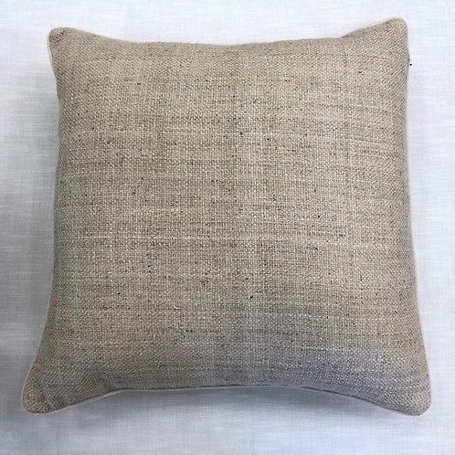 """Tan/Khaki Raw Silk 24"""" x 24"""" Pillow with Insert"""