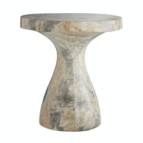 Faux Marble Accent Table, Small