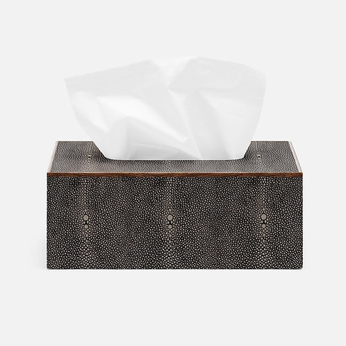 Faux Shagreen Square Tissue Box