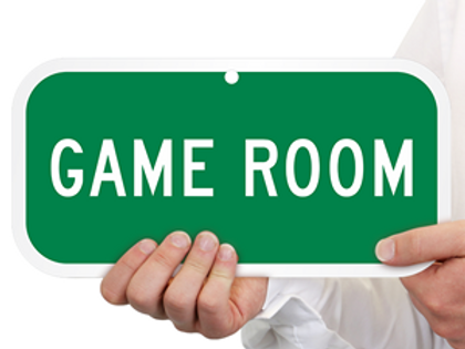 GAME ROOM Wednesday for 2!