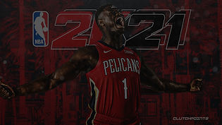Zion-Williamson-reacts-to-NBA-2K21-cover