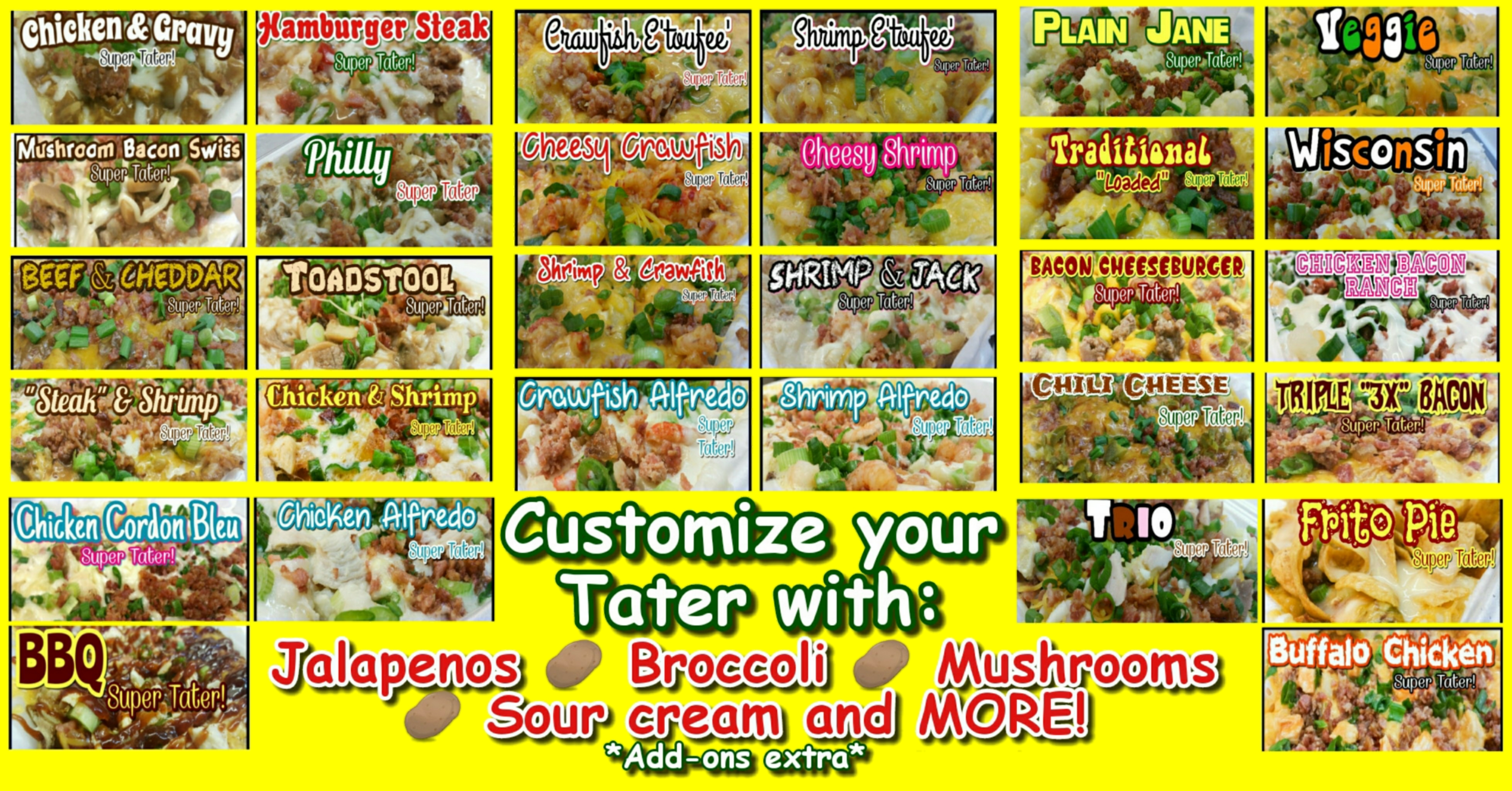 Super Tater picture menu 1