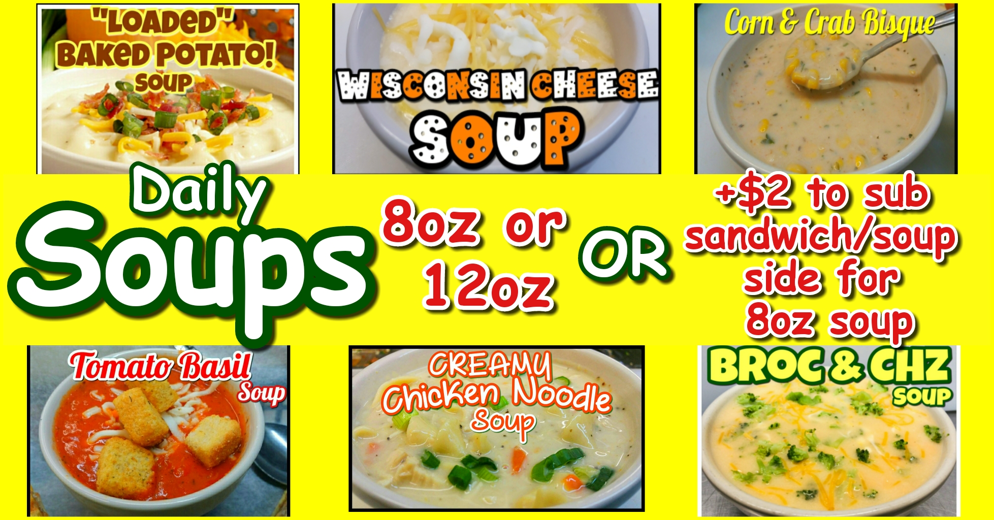 Daily soups!