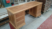 Bespoke Burr oak desk