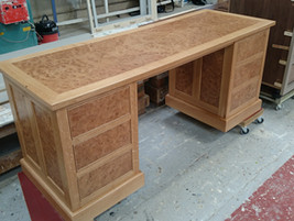 Bespoke Burr oak desk