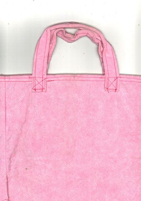 Rosa Vlies-Tasche