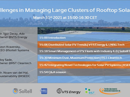 Challenges in Managing Large Clusters of Rooftop Solar PV webinar