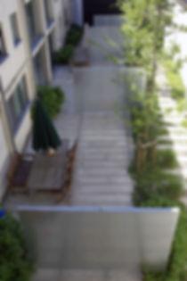 gemeenschappelijke binnentuin tredzone (