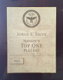Nation's Top One Percent Plaque