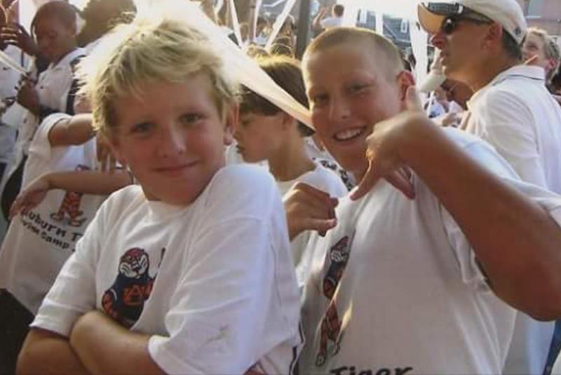 Mac and Alex at Auburn Swim Camp 2006 TP(ing) Toomers Corner.