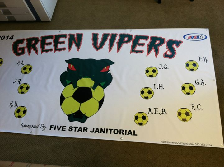 Facebook - 4'x8' Green Vipers soccer team banner Design and Print