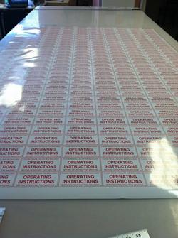 Facebook - Custom stickers for equipment rental company
