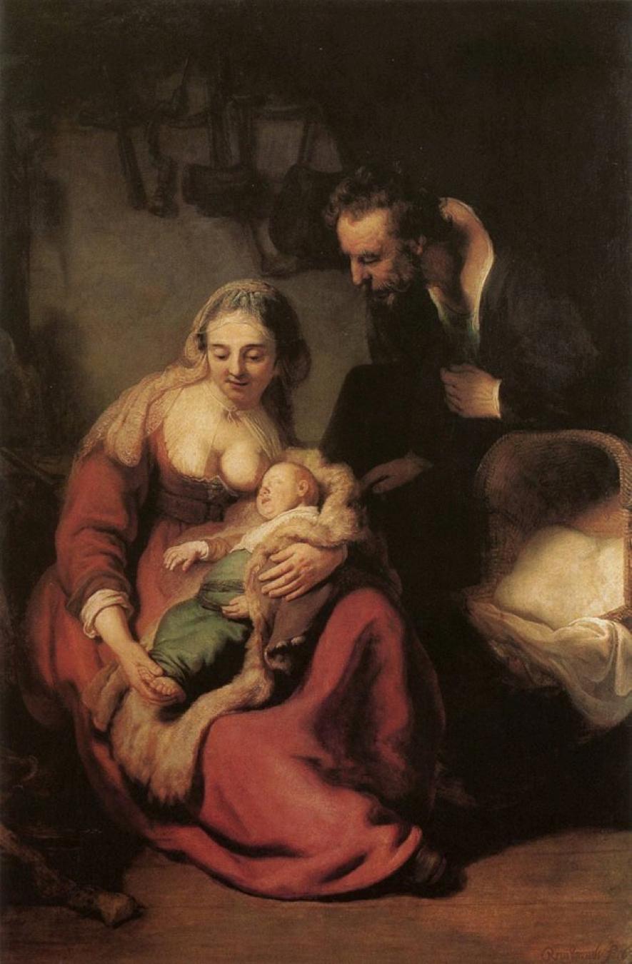 A Sagrada Família (1633-1635), Rembrandt (Harmensz. van Rijn), em Antiga Pinacoteca (Munique, Alemanha)