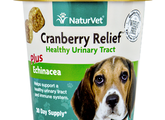 NaturVet Cranberry Relief® Plus Echinacea Soft Chews - 60ct (30 Day Supply)