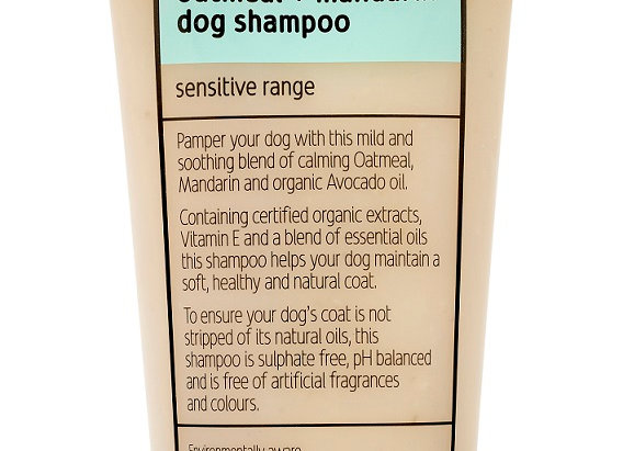 Fuzzyard Oatmeal + Mandarin Sensitive Dog Shampoo 220Ml