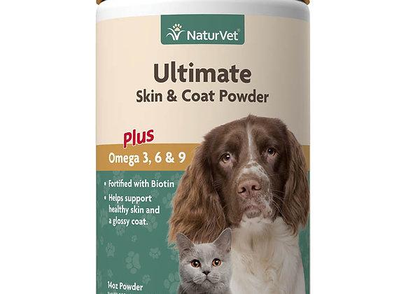NaturVet Ultimate Skin & Coat Powder Plus Omega 3, 6 & 9 - 14oz