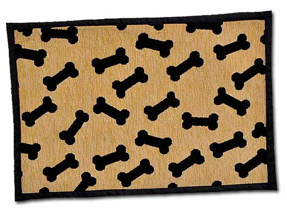 Loving Pets Bella Fashion Dog Mat - Dancing Bones