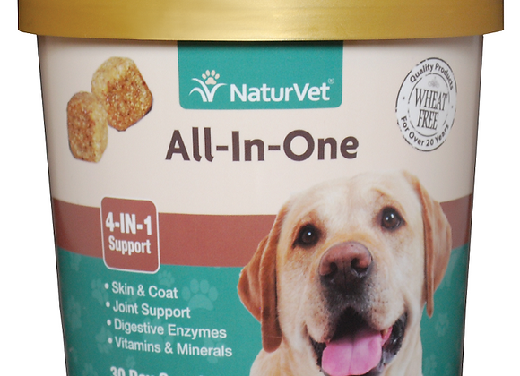 NaturVet All-In-One (4-IN-1 Support) Soft Chews - 70ct (30 Day Supply)