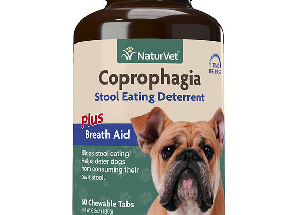 NaturVet Coprophagia Stool Eating Deterrent Chewable Tablets - 60ct