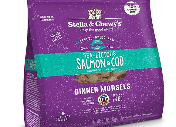 Stella & Chewy's - Sea-Licious Salmon & Cod Freeze-Dried Raw Dinner Morsels
