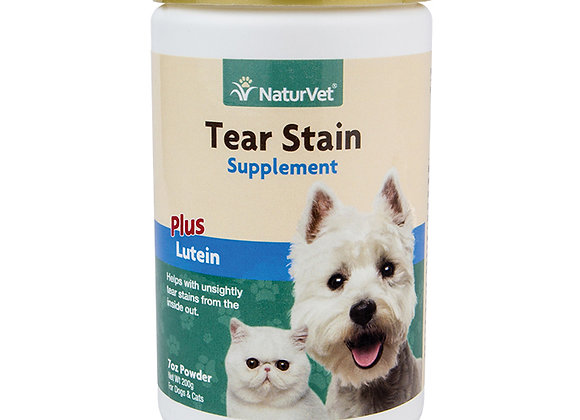 NaturVet Tear Stain Supplement Powder Plus Lutein - 7oz