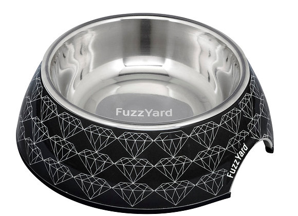 Fuzzyard Black Diamond Easy Feeder Pet Bowl