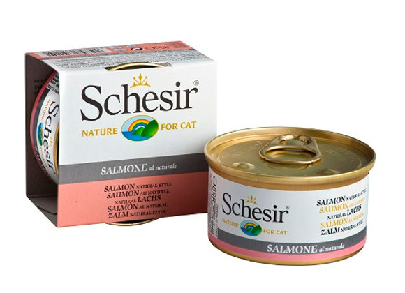 Schesir Salmon in Water Canned Cat Food 85g