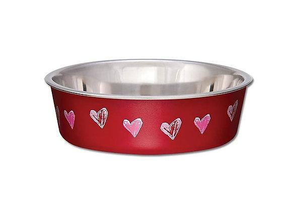 Loving Pets Bella Bowl Valentine Red