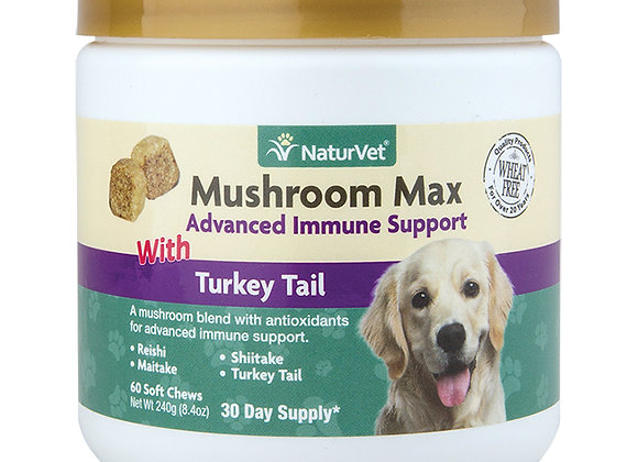 NaturVet Mushroom Max with Turkey Tail Soft Chews