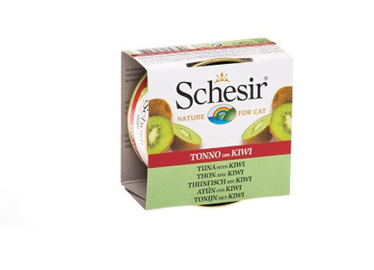 Schesir Tuna and Kiwi Fruit Dinner Canned Cat Food 75g