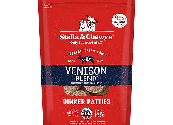Stella & Chewy's Venison Freeze-Dried Raw Dinner Patties