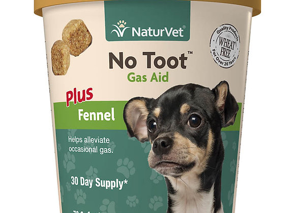 NaturVet No Toot™ Gas Aid Plus Fennel Soft Chews - 70ct (30 Day Supply)