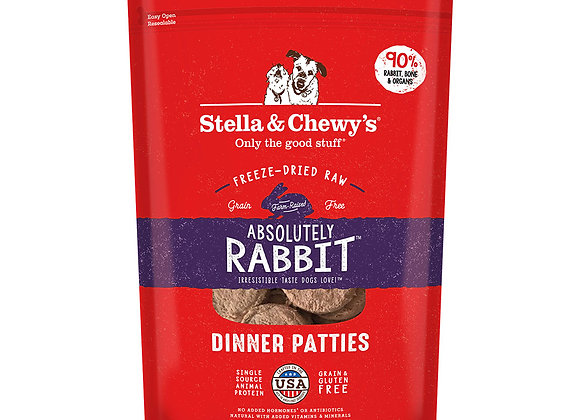 Stella & Chewy's Absolutely Rabbit Freeze-Dried Raw Dinner Pat