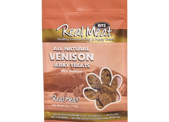 The Real Meat All Natural Venison Jerky Dog Treats