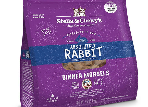 Stella & Chewy - Absolutely Rabbit Freeze-Dried Raw Dinner Morsels