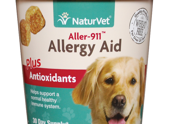 NaturVet Aller-911® Allergy Aid Plus Antioxidants Soft Chews - 70ct (30 Day)