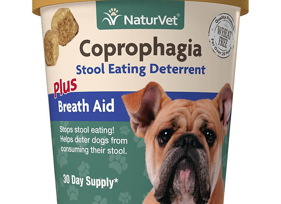 NaturVet Coprophagia Stool Eating Deterrent Soft Chews - 70ct (30 Day Supply)