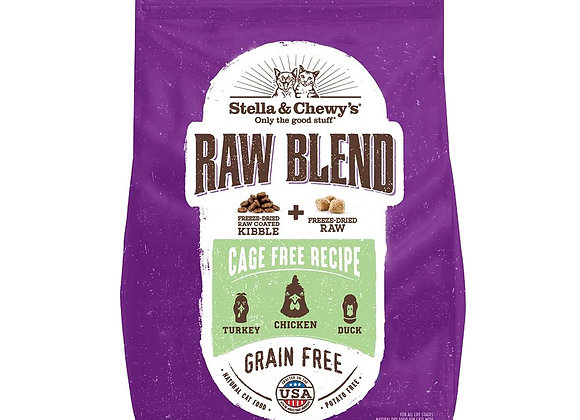 Stella & Chewy's Raw Blend Kibbles - CAGE-FREE (TURKEY, CHICKEN, DUCK)