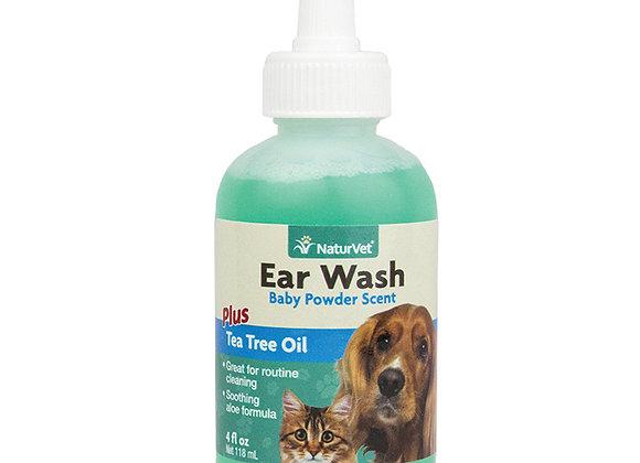NaturVet Ear Wash with Tea Tree Oil -118ml