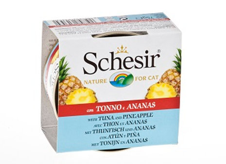 Schesir Tuna and Pineapple Fruit Dinner Canned Cat Food 75g