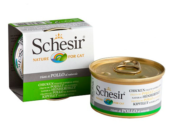Schesir Chicken Fillet in Water Canned Cat Food 85g